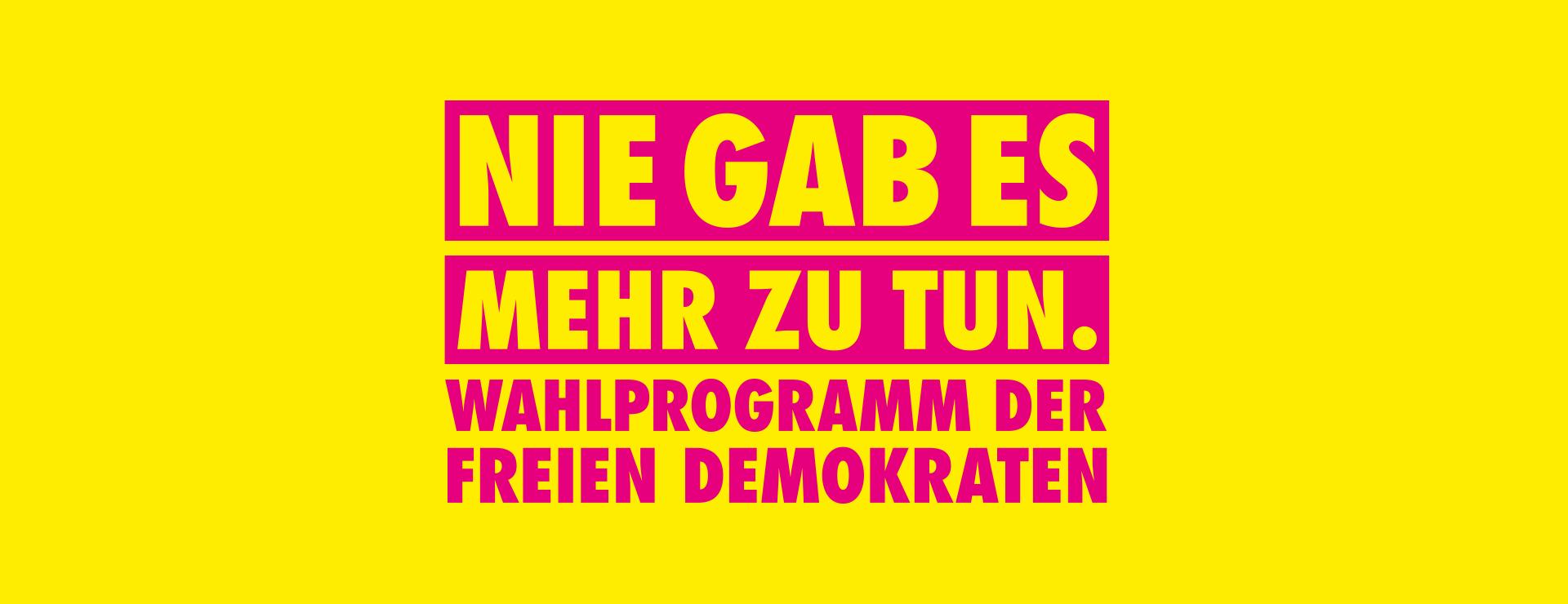 FDP Wahlprogramm zur Bundestagswahl 2021
